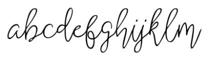Shartica Script Regular Font LOWERCASE