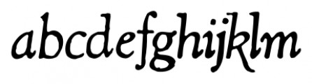 Shipley Rough Italic Alt Font LOWERCASE