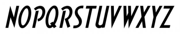 Short Subject JNL Oblique Font UPPERCASE