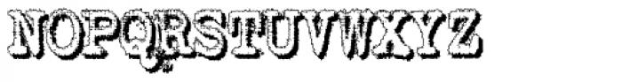 Shadow Typewriter Font UPPERCASE