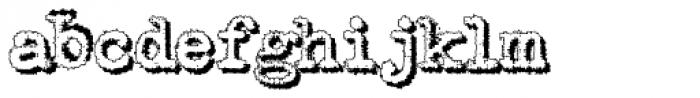 Shadow Typewriter Font LOWERCASE