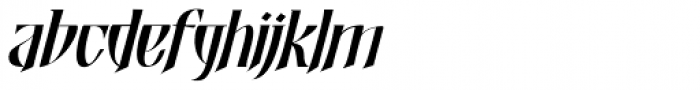 Shadowfield Italic Font LOWERCASE