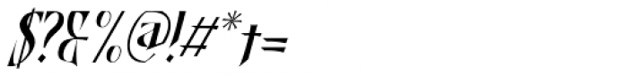 Shadowfield Narrow Italic Font OTHER CHARS
