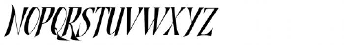 Shadowfield Narrow Italic Font UPPERCASE
