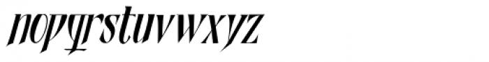 Shadowfield Narrow Italic Font LOWERCASE