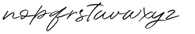 Shadowy Regular Font LOWERCASE