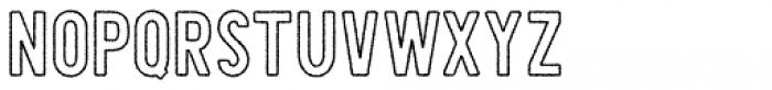 Shaimus Outline Rough Font UPPERCASE