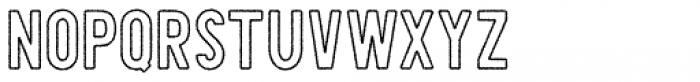 Shaimus Outline Rough Font LOWERCASE