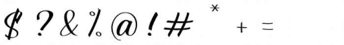 Shakeglow Regular Font OTHER CHARS