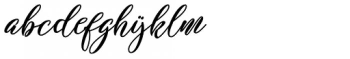 Shakeglow Regular Font LOWERCASE