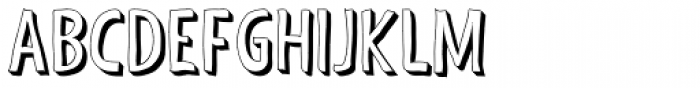 Shaky Hand Some Comic 3-D Font UPPERCASE