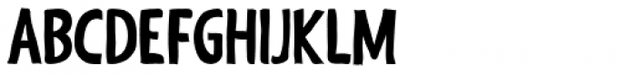 Shaky Hand Some Comic Bold Font UPPERCASE