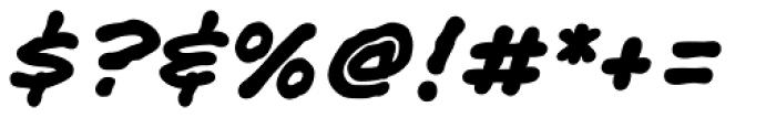 Shaky Kane Bold Italic Font OTHER CHARS