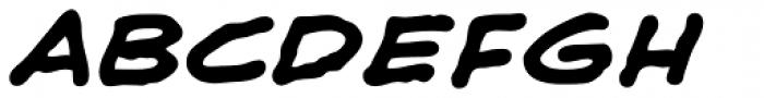 Shaky Kane Bold Italic Font UPPERCASE