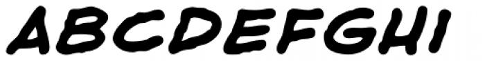 Shaky Kane Bold Italic Font LOWERCASE