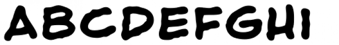 Shaky Kane Bold Font LOWERCASE