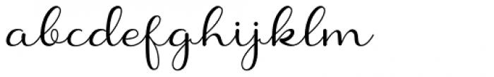 Shanela Regular Font LOWERCASE