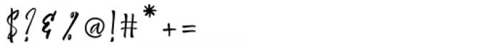 Shantika Script Regular Font OTHER CHARS