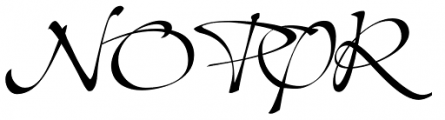 Shapely Font UPPERCASE