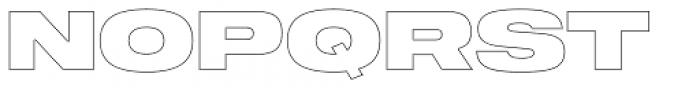 Shapiro 97 Air Extd Font UPPERCASE