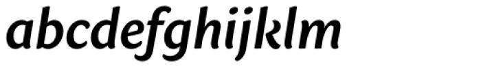 Sharik Sans SemiBold Italic Font LOWERCASE