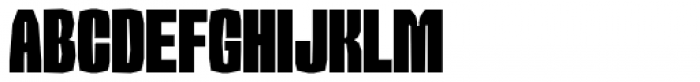 Sharka 04 Condensed Font UPPERCASE