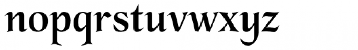 Sharp End Semibold Font LOWERCASE