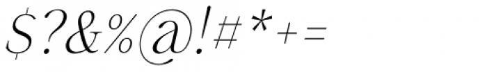 Sharpe Thin Italic Font OTHER CHARS