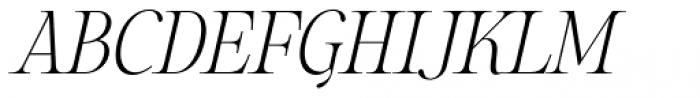 Sharpe Thin Italic Font UPPERCASE