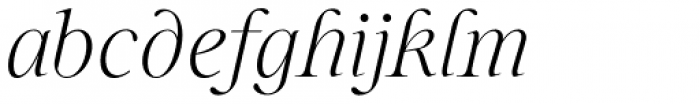 Sharpe Thin Italic Font LOWERCASE