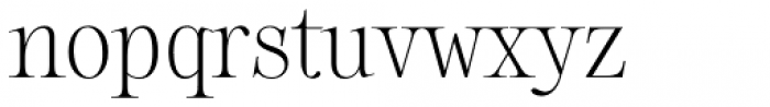 Sharpe Thin Font LOWERCASE