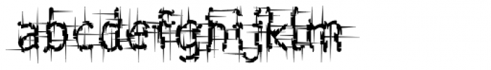 Shatterday ICG Shred Font LOWERCASE