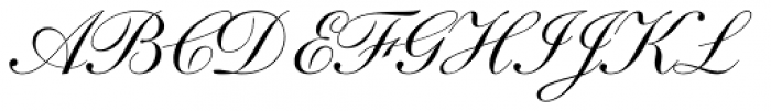 Shelley LT Script Font UPPERCASE