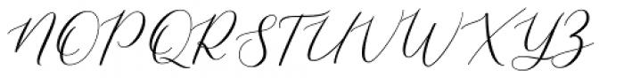 Shelline Regular Font UPPERCASE