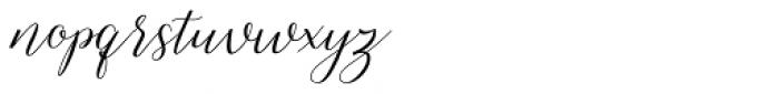 Shelline Regular Font LOWERCASE