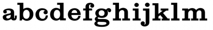 Shenandoah Clarendon Bold Font LOWERCASE