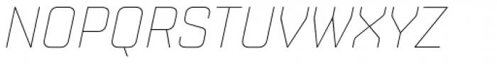 Shentox Thin Italic Font UPPERCASE