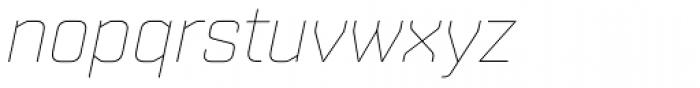 Shentox Thin Italic Font LOWERCASE