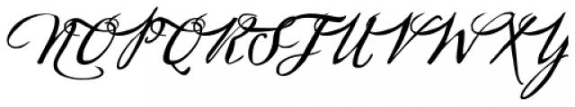 Sherlock Script 3 Font UPPERCASE