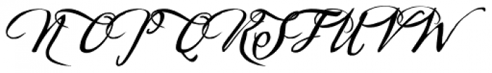 Sherlock Script 4 Font UPPERCASE