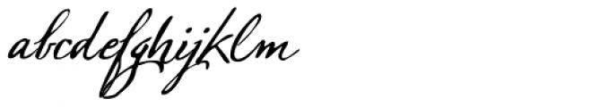 Sherlock Script Font LOWERCASE