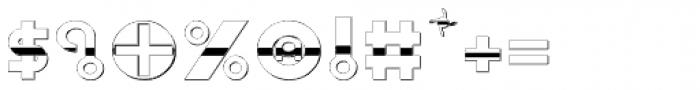Shibuya Dancefloor Chrome Font OTHER CHARS