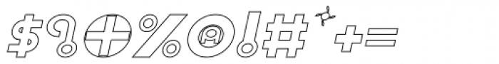 Shibuya Dancefloor Hollow Italic Font OTHER CHARS