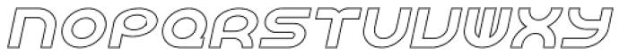 Shibuya Dancefloor Hollow Italic Font LOWERCASE