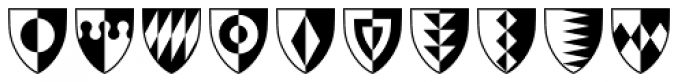 Shield Ornaments Font LOWERCASE