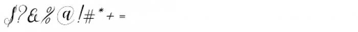 Shila Script Regular Font OTHER CHARS