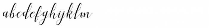 Shila Script Regular Font LOWERCASE