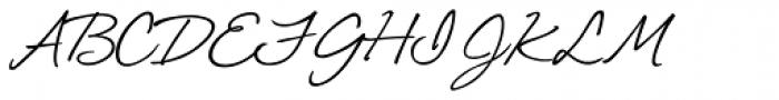 Shimmer Font UPPERCASE
