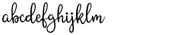 Shining Glory Regular Font LOWERCASE