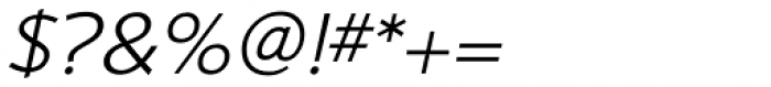 Shinn RR Light Italic Font OTHER CHARS